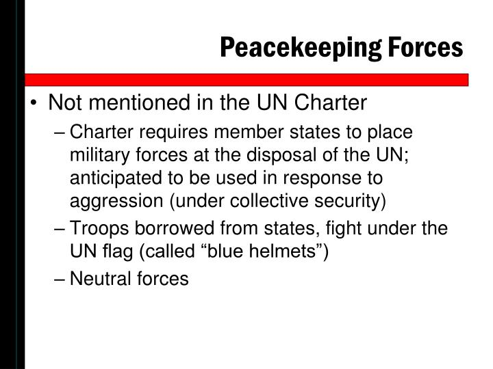 Peacekeeping Forces