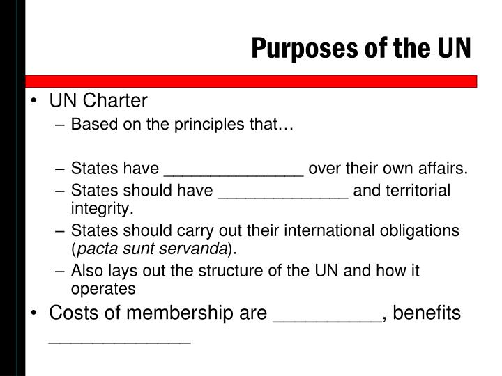 Purposes of the UN
