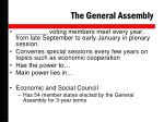 the general assembly