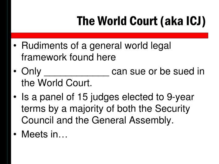 The World Court (aka ICJ)