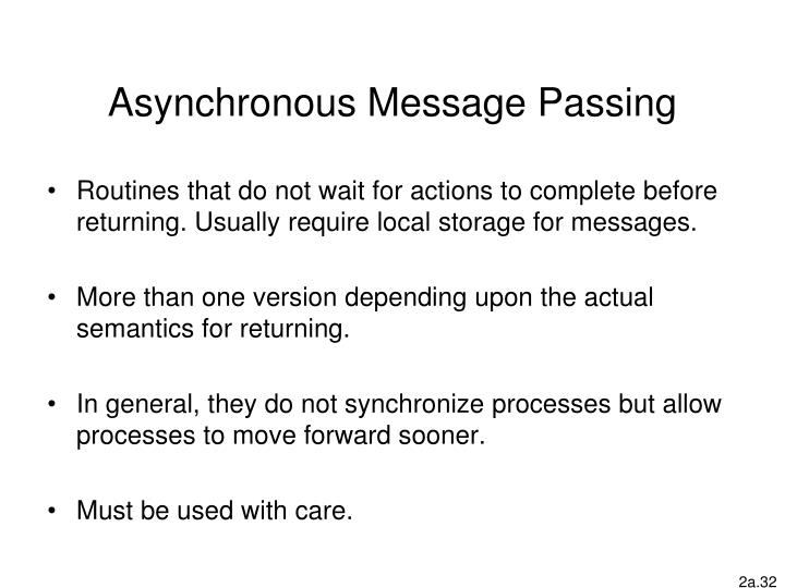 Asynchronous Message Passing