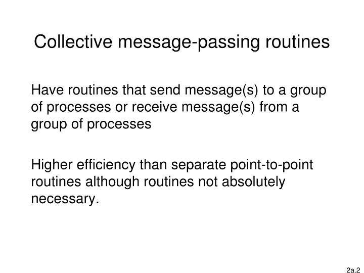 Collective message-passing routines