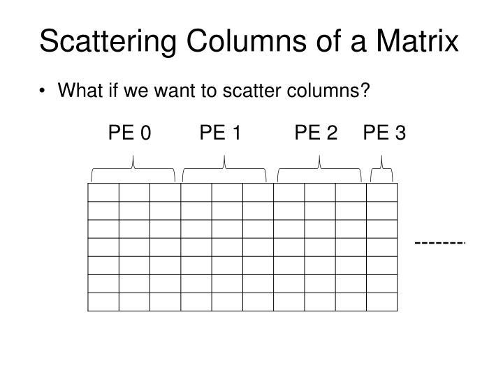 Scattering Columns of a Matrix