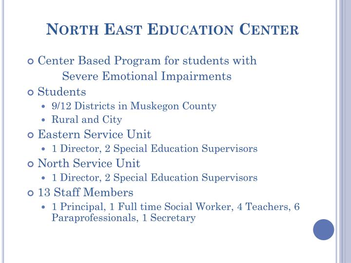 North East Education Center