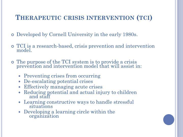 Therapeutic crisis intervention (