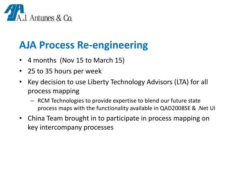 AJA Process Re-engineering