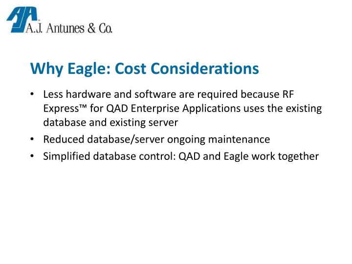 Why Eagle: Cost Considerations