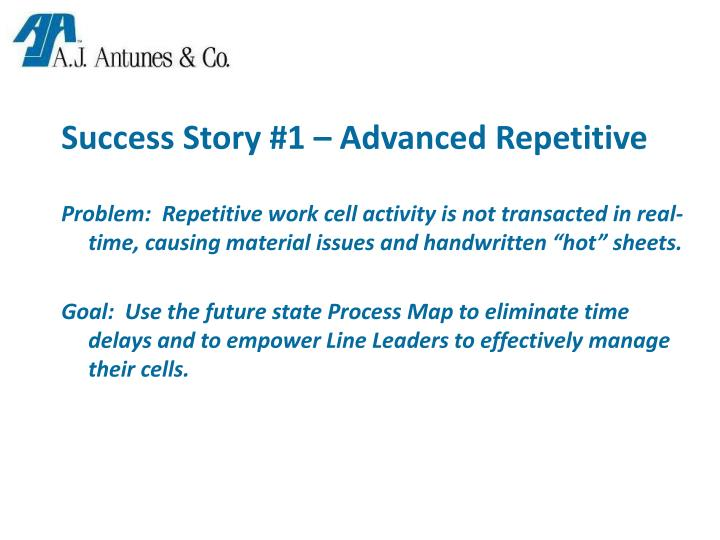 Success Story #1 – Advanced Repetitive