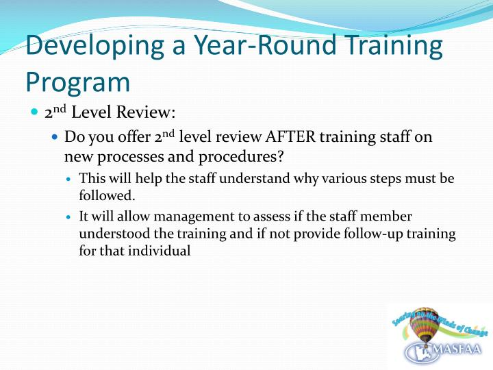 Developing a Year-Round Training Program