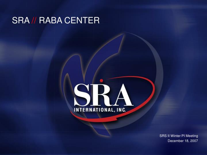 Sra raba center