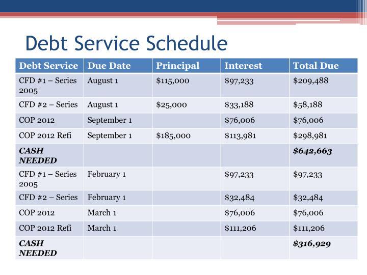 Debt Service Schedule