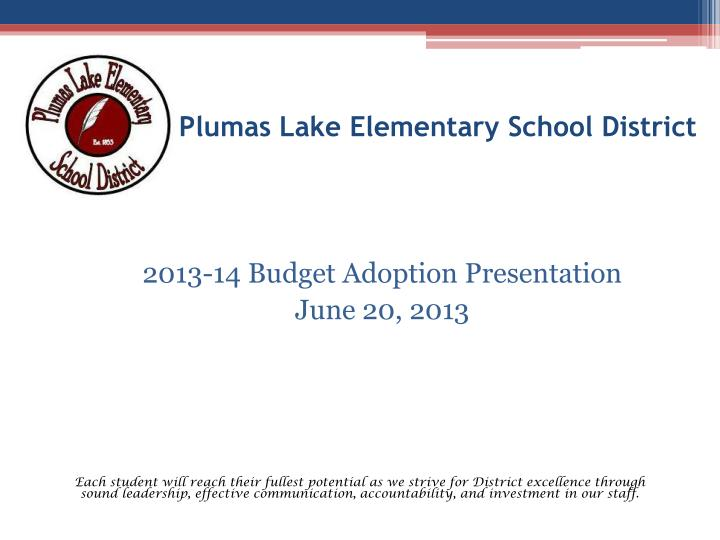 Plumas lake elementary school district