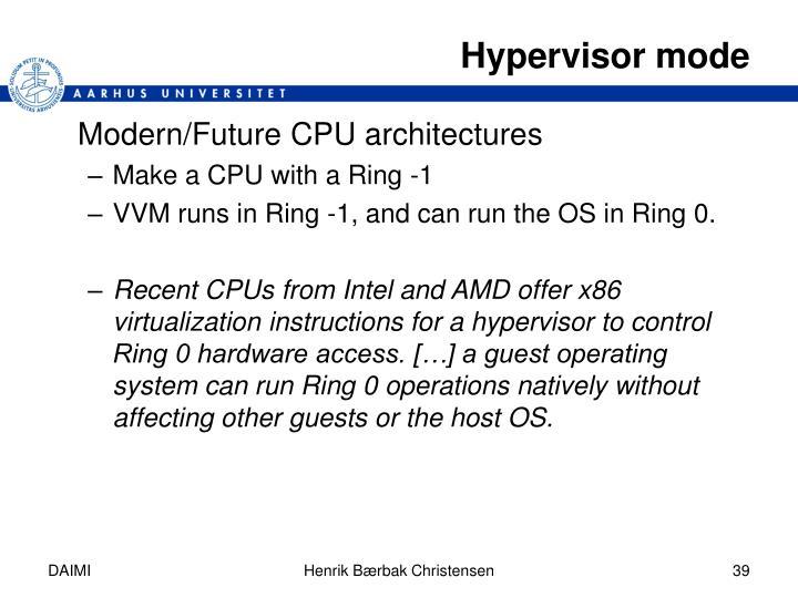 Hypervisor mode