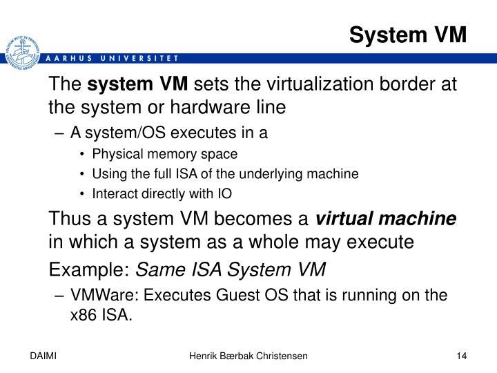 System VM