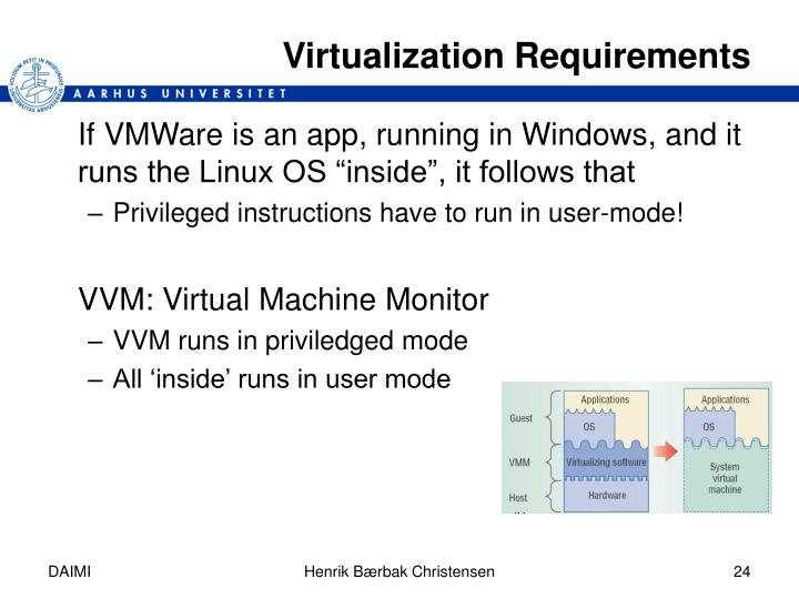 Virtualization Requirements