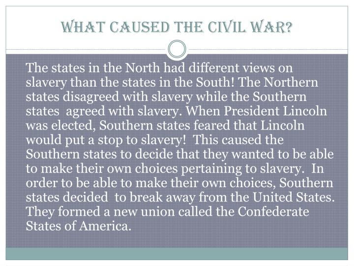 what caused the civil war Over the post-world war ii period, civil wars have become more common than  international wars, affecting more than 70 countries as most of the affected.