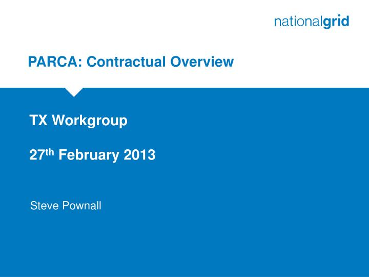 parca contractual overview