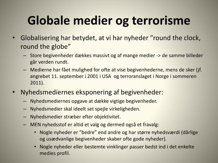 Globale medier og terrorisme