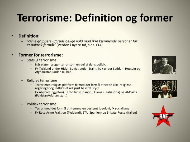 Terrorisme: Definition