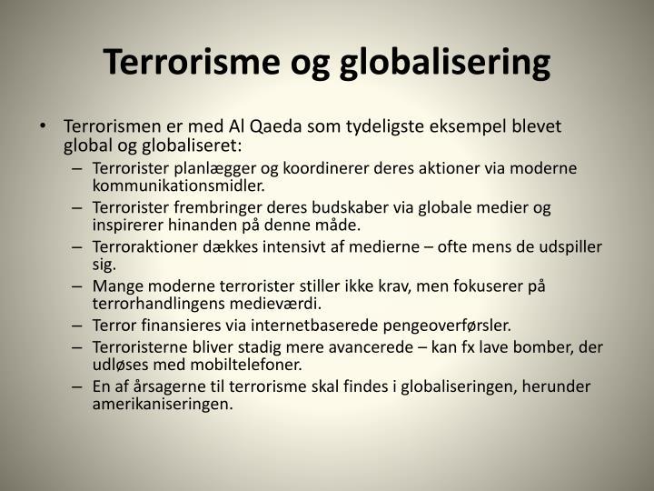 Terrorisme og globalisering
