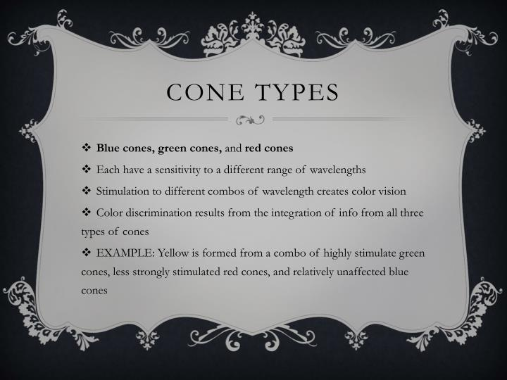 Cone types