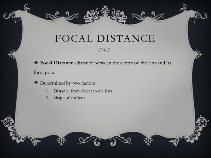 Focal distance