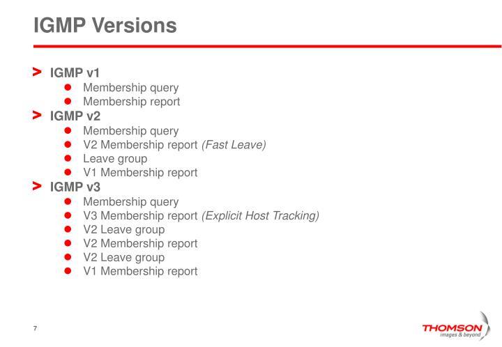 IGMP Versions