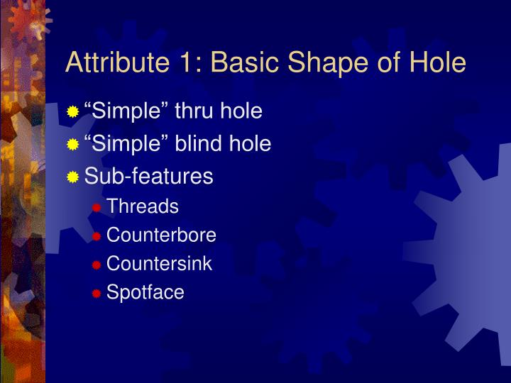 Attribute 1 basic shape of hole