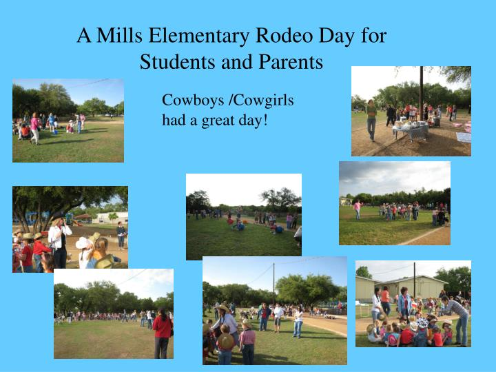 A Mills Elementary Rodeo Day for Students and Parents