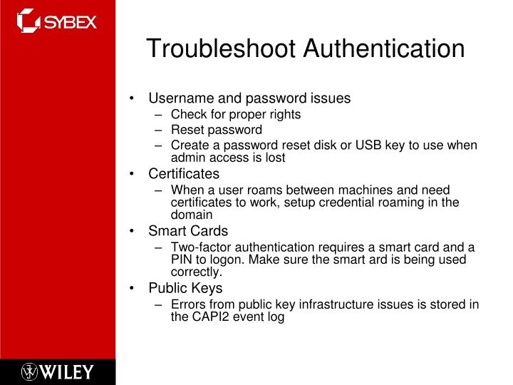 Troubleshoot Authentication