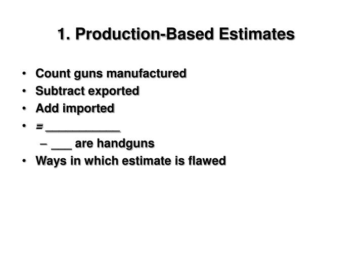 1. Production-Based Estimates