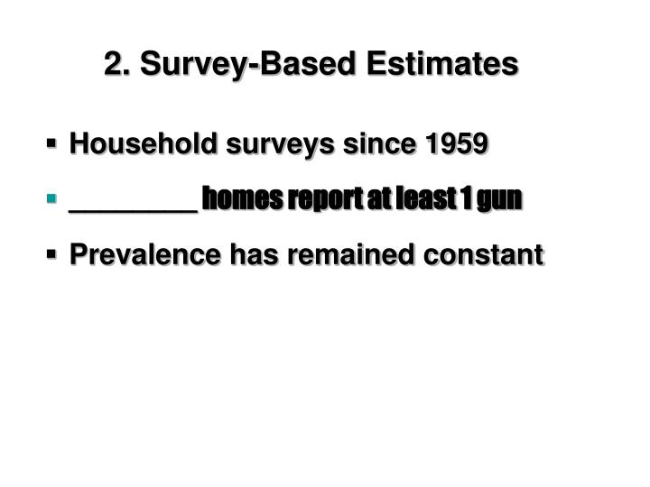 2. Survey-Based Estimates