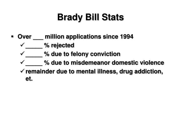 Brady Bill Stats