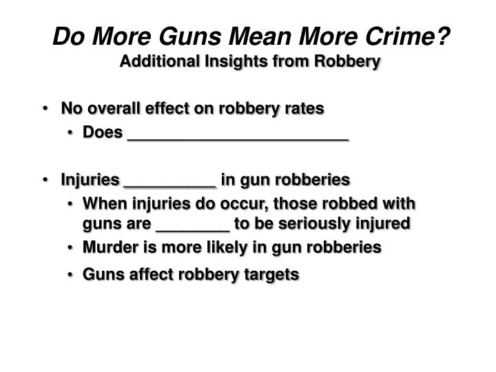 Do More Guns Mean More Crime?