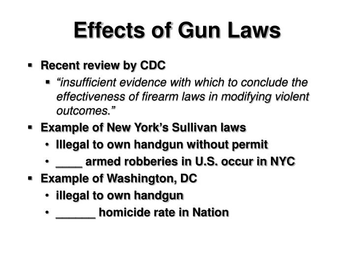 Effects of Gun Laws