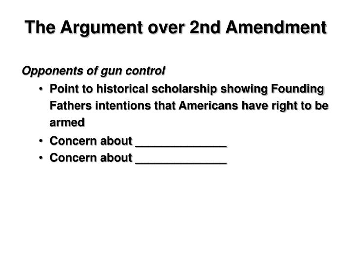 The Argument over 2nd Amendment