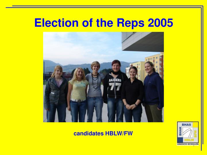 Election of the Reps 2005