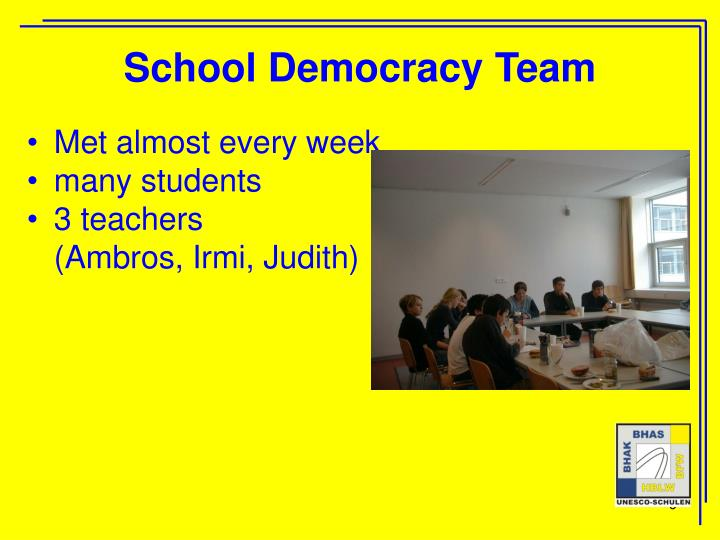 School Democracy Team