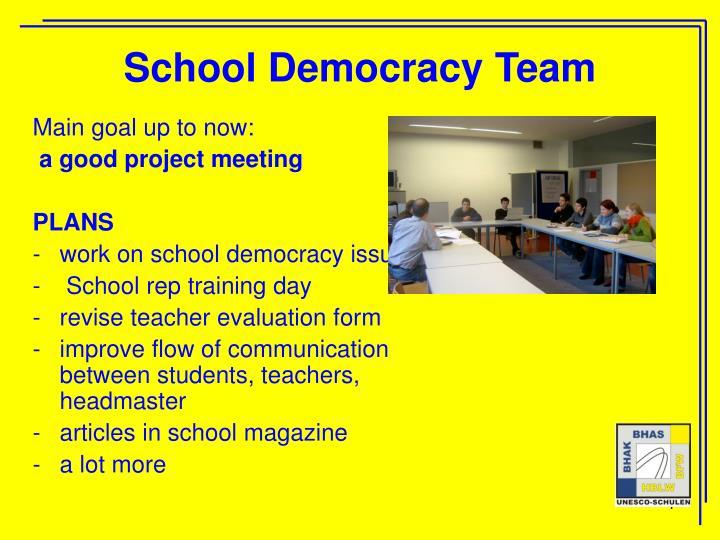 School Democracy Team