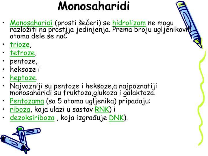 Monosaharidi