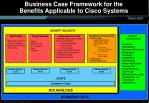 business case framework for the benefits applicable to cisco systems