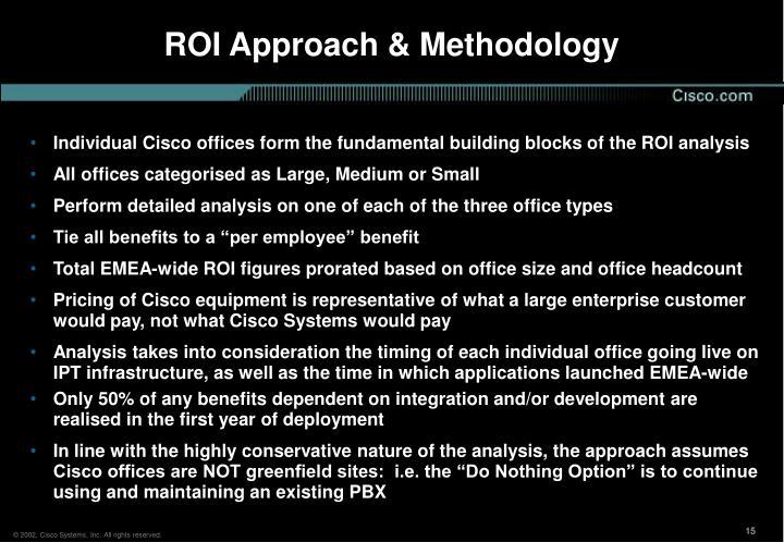 ROI Approach & Methodology