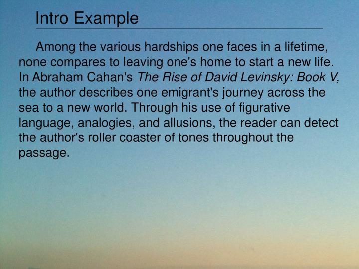 Intro Example