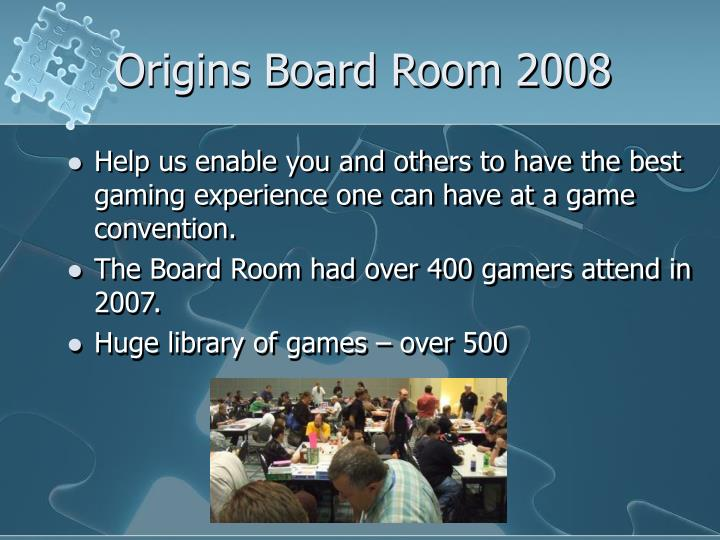 Origins board room 20081