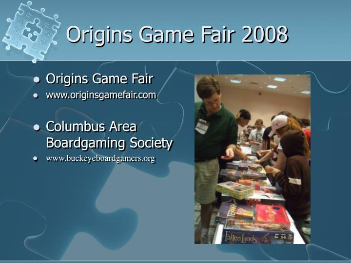 Origins Game Fair 2008