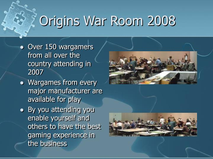 Origins War Room 2008