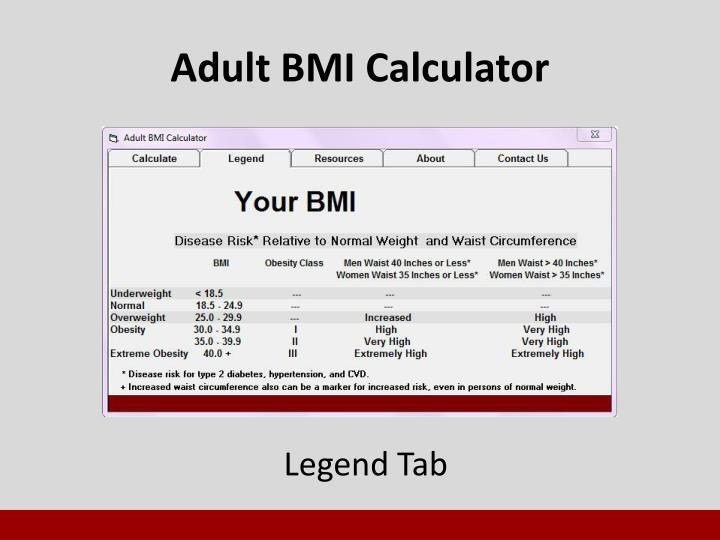 Adult BMI Calculator