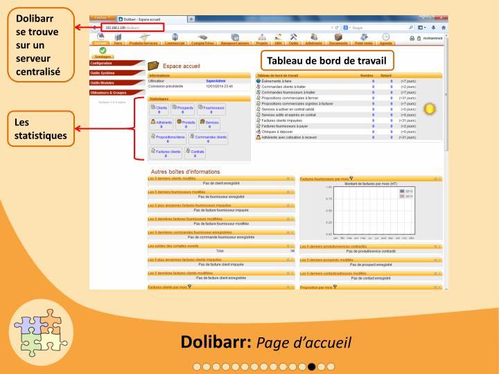Dolibarr se trouve sur un serveur centralisé