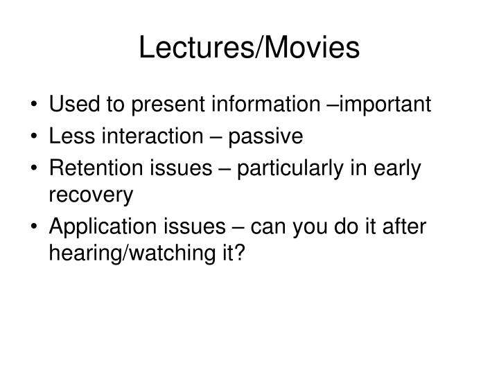 Lectures/Movies