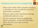 interacting with committee1